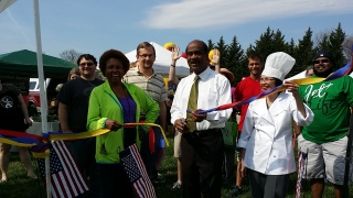 Thank you County Executive, Ike Leggett for stopping by on his way to his own Palm Sunday Service and officiating our 2014  Season ribbon cutting.  Fun was had by all.!